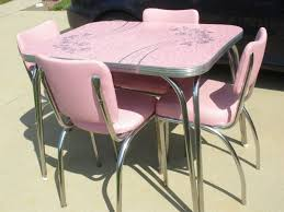 50 s kitchen table and chairs vintage pink formica top 50 s table vintage decor pinterest