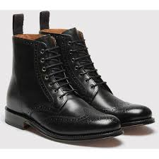 womens black leather boots sale best 25 black brogue boots ideas on s shoes