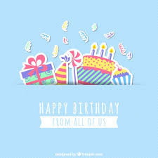 free bday cards happy birthday card vector free