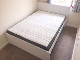 ikea double brusali bed frame u0026 double hovag pocket sprung