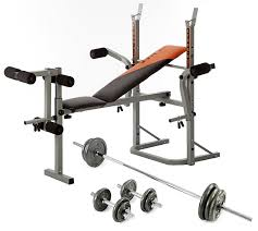 v fit stb09 2 folding weight bench u0026 50kg cast iron weight set