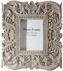 sachi carved wood photo frame picture frames wall decor home