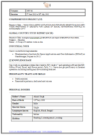 Mba Application Resume Examples by Latest Mba It Resume Sample In Word Doc Free Resume Pinterest