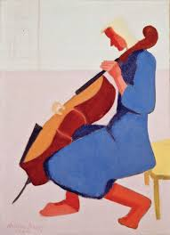 7 milton avery 1893 1965 cello player in blue 1944 oil on canvas 36 x 26 inches permanent collection of the neuberger museum of art