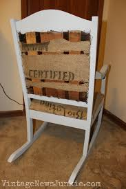 Rocking Chair Seat Repair The Rescued Rocking Chair How To Reupholster A Chair Tutorial