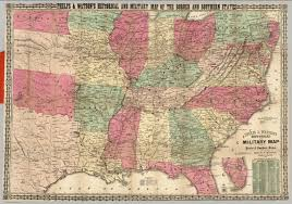 Map Of Southern States Military Map Of The Southern States David Rumsey Historical Map