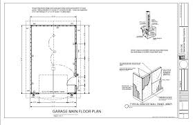 cabin plans with garage g220 16 x 24 garage plan blueprints cabin plans