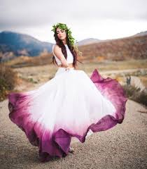 purple wedding dresses picture of purple wedding gown touches