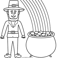 Color Of Irish Flag Color The Irish Flag Leprechaun Coloring Pages Online Educations