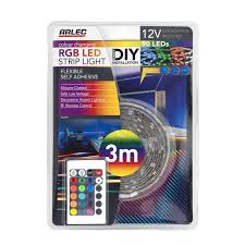 remote control led strip lights arlec 3m silicone coated rgb led strip light bunnings warehouse