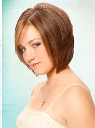 trangole face medium lenght the latest haircut triangle layered bob side view layered look hairstyles
