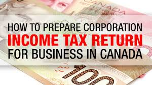 how to prepare corporation income tax return for business in