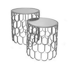 Silver Accent Table Three 20 In Silver Accent Table Set Of 2 28441 The Home