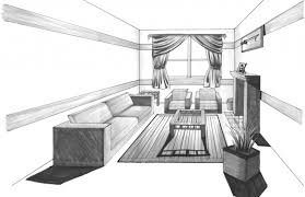 1 point perspective drawing tutorial how to draw with one point