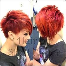 pic of back of spiky hair cuts red short spikey hairstyle girls haircuts popular haircuts