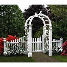 new england arbors two 4 ft cottage picket vinyl arbor wings