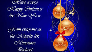 happy holidays merry decorative balls card blue