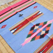 Flat Weave Cotton Area Rugs Best Blue Flat Weave Rugs Products On Wanelo