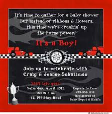 baby shower invitation fast boy race cars checkered