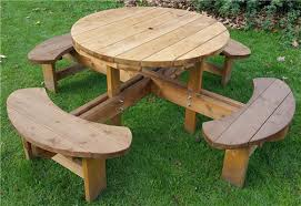heavy duty round picnic table round picnic table bench