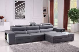 Leather Couches For Sale Divani Casa Polaris Mini Contemporary Bonded Leather Sectional Sofa