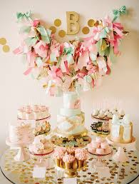 pink and gold cake table decor the latest prints posh paperie pink mint gold birthday