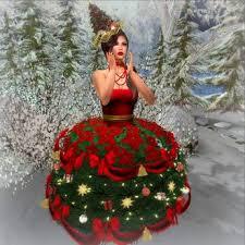 second life marketplace lamu fashion dress christmas tree