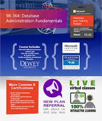 98 364 database administration fundamentals u2013 itg online it