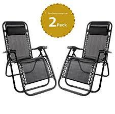 sedia gravity set of 2 heavy duty textoline zero gravity chairs garden