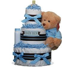 baby shower gift hamper ideas darling baby boy 3 tiered nappy cake