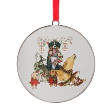raz howling dogs disc christmas ornament ornament christmas