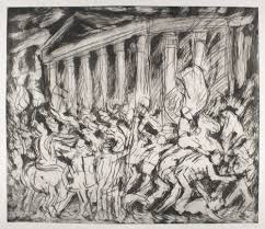 leon kossoff drawing from painting studio international