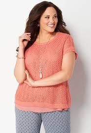 openwork 2fer plus size sweater cbk web store