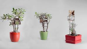 check out these tiny tree houses for houseplants nerdist