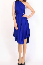 royal blue triangle bridesmaid dresses infinity dress convertib