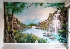 chambre jungle déco intérieur jungle de cascades dans la jungle pour une
