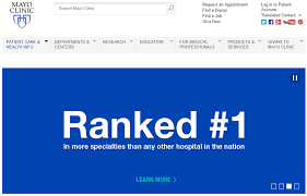 mayo clinic help desk what makes a good clinic website top 10 u s clinics websites analysis