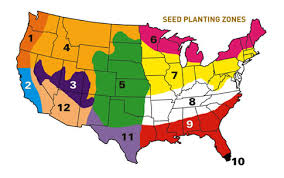 Climate Zones For Gardening - when to plant grass seed in your state