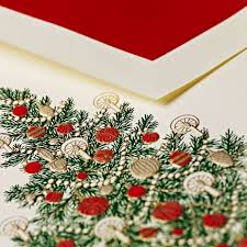 traditional christmas tree greeting cards