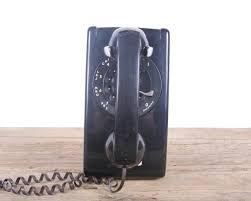 vintage black rotary phone black wall phone western electric