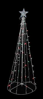 5 green led lighted outdoor twinkling tree yard