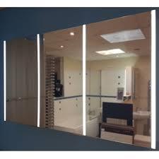 hib xenon 120 led illuminated mirror cabinet art no 46300 baker