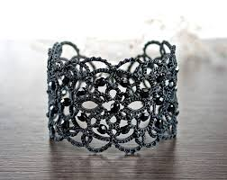 cuff bracelet black images 52 lace bracelet lace cuff bracelets collection hats by gail jpg