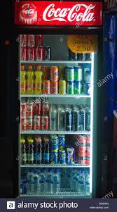 coca cola fridge glass door coca cola refrigerator greece stock photo royalty free image