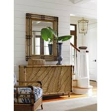 Tommy Bahama Home Decor by Tommy Bahama 01 0558 205 Twin Palms Savana Bamboo Mirror In Umber