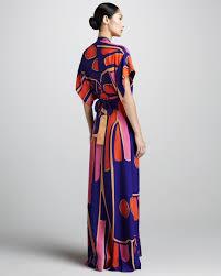 issa deepv silk kimono maxi dress in blue lyst