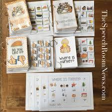 interactive thanksgiving vocabulary books from speech room news