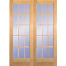 builder u0027s choice 60 in x 80 in 15 lite clear wood pine prehung