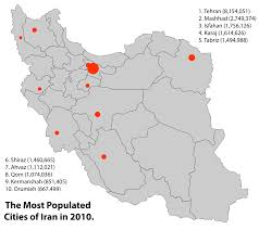 Tehran Map List Of Iranian Cities By Population Wikipedia