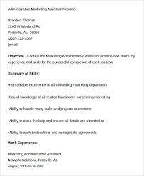 sample marketing assistant resume view sample picture of